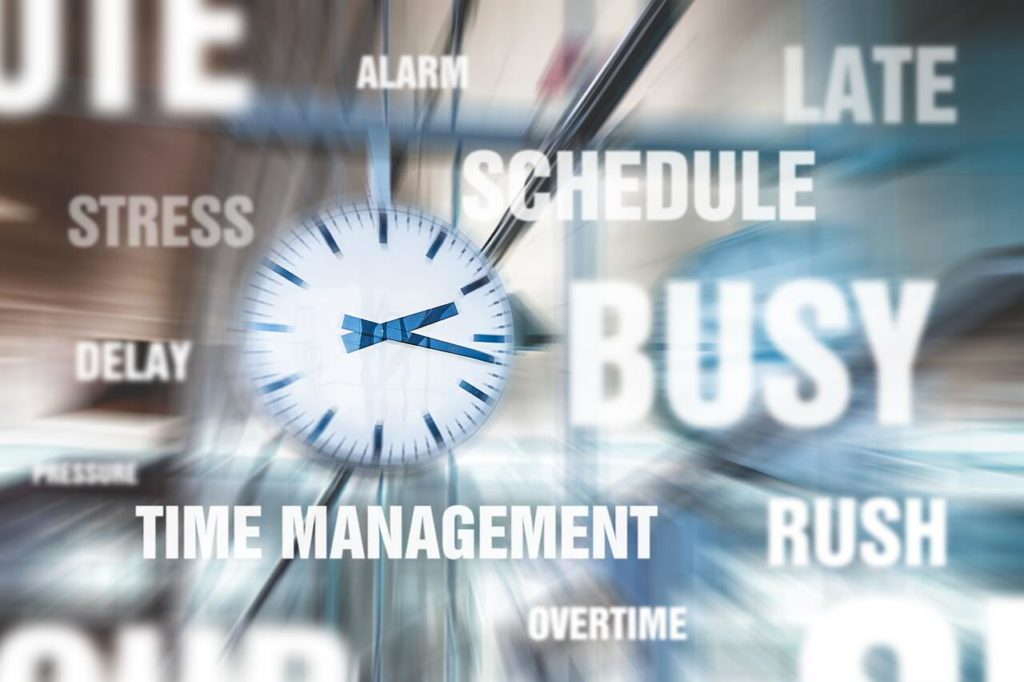 Time Management Timetable Schedule Alarm Hurry Delay Late Stress Busy Rush Overtime Pressure | Image by TeroVesalainen from Pixabay.