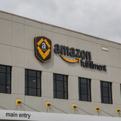Amazon.com warehouse and fulfillment center in Shakopee, Minnesota. Amazon FBA