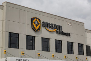 Amazon.com warehouse and fulfillment center in Shakopee, Minnesota. Amazon FBA