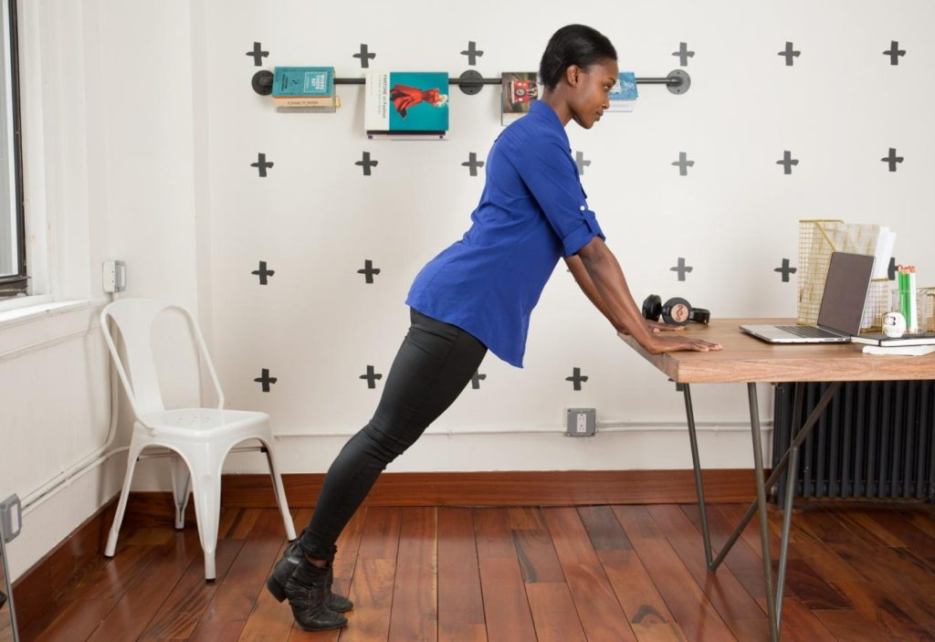 Desk Push-Up : Best Exercise You Can Do at Your Desk.