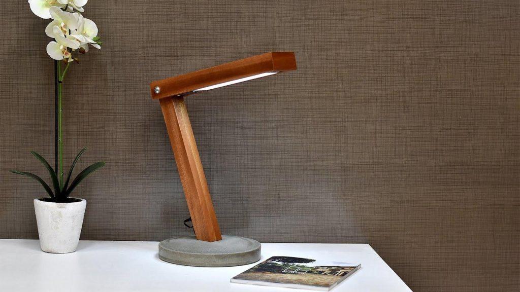 LED Desk Lamp With Concrete Base