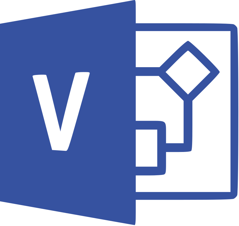 Microsoft Visio or Microsoft Office Visio Official Logo