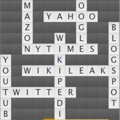 Popular Websites Crossword Puzzle