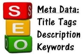 Meta Data: Title Tags, Description, Keywords.