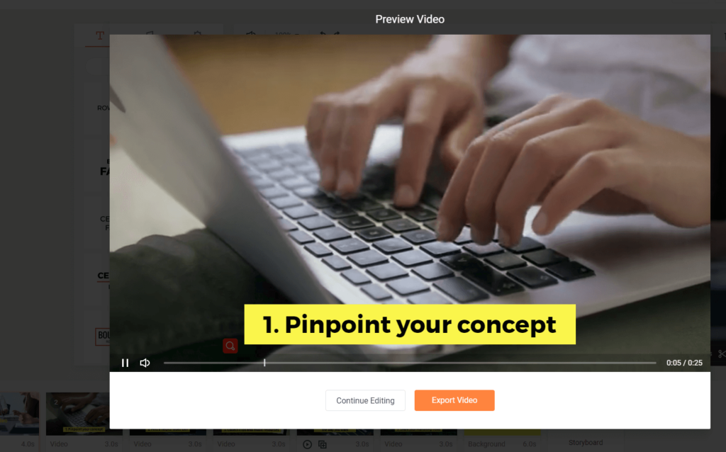 FlexClip Real-Time Preview Video
