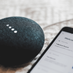 Google Home Mini - Smart Speaker with the Google Assistant - Control Your Smart Home With Your Voice.