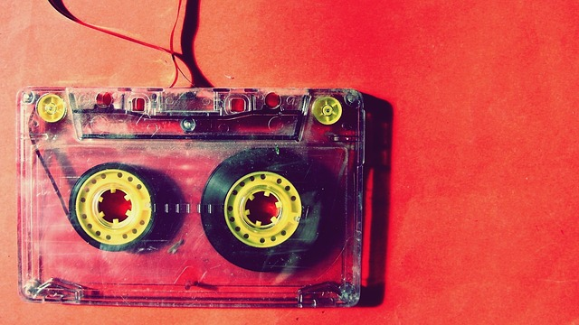 Vintage Music Cassette Tape, Retro Audio Tape