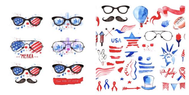 Patriotic America Clip Art Vectors