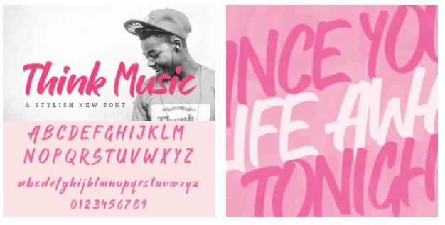 Think Music - A Stylish New Font.
