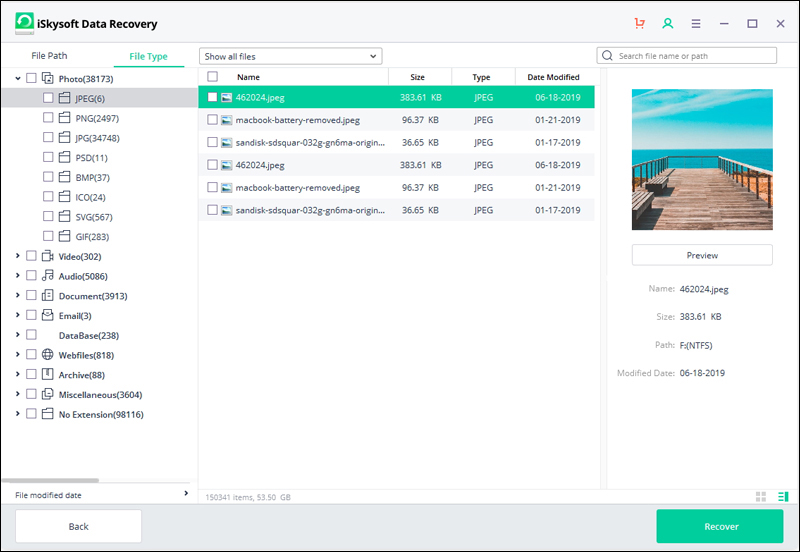 iSkysoft Data Recovery Mac: Recover Deleted Photo, Video, Audio, Document, Email and Web Files.