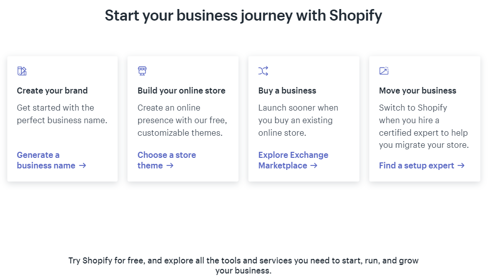 Start your business journey with Shopify. Try Shopify for free, and explore all the tools and services you need to start, run, and grow your online business.