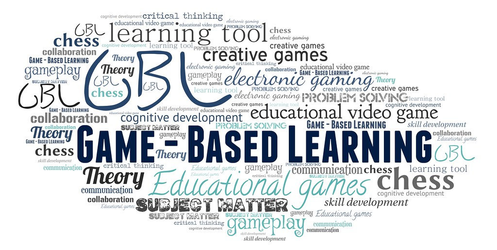 A Word Cloud Featuring Game-Based Learning (GBL)