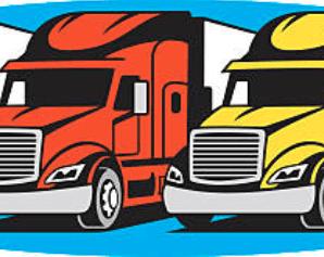 Best Truck Fleet Illustration. Fleet of Vehicles. Fleet Management.