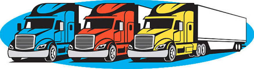 Best Truck Fleet Illustration. Fleet of Vehicles. Fleet Management.