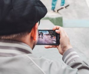 Person Holding Mobile Phone Recording a Video. Smartphone Video Recording. Videography. Technology.