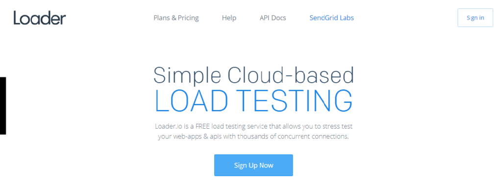 Simple Cloud-based Load Testing. Loader.io is a load testing service that allows you to stress test your web-apps and APIs with thousands of concurrent connections.