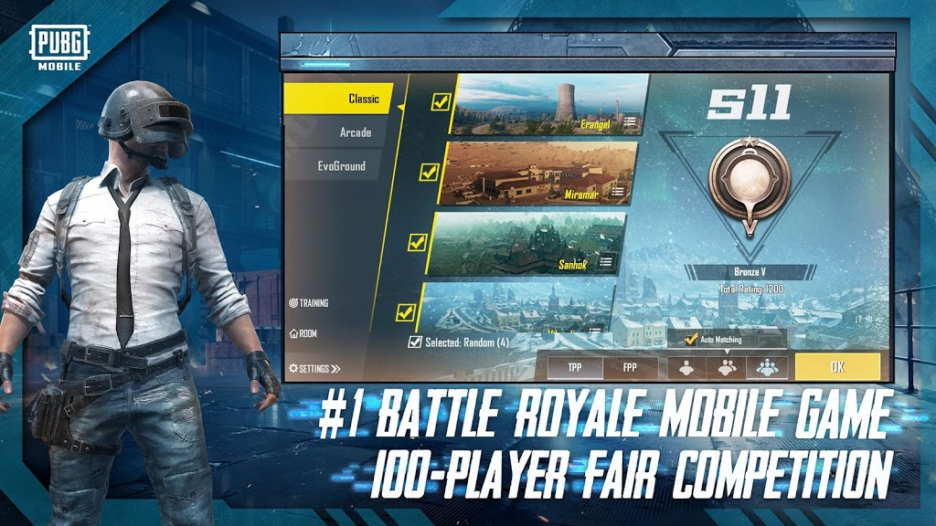 PUBG Mobile: #1 Battle Royale Mobile Game. 100-Player Fair Competition.
