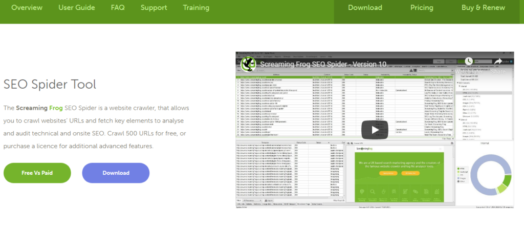 Screaming Frog SEO Spider Tool & Crawler Software.