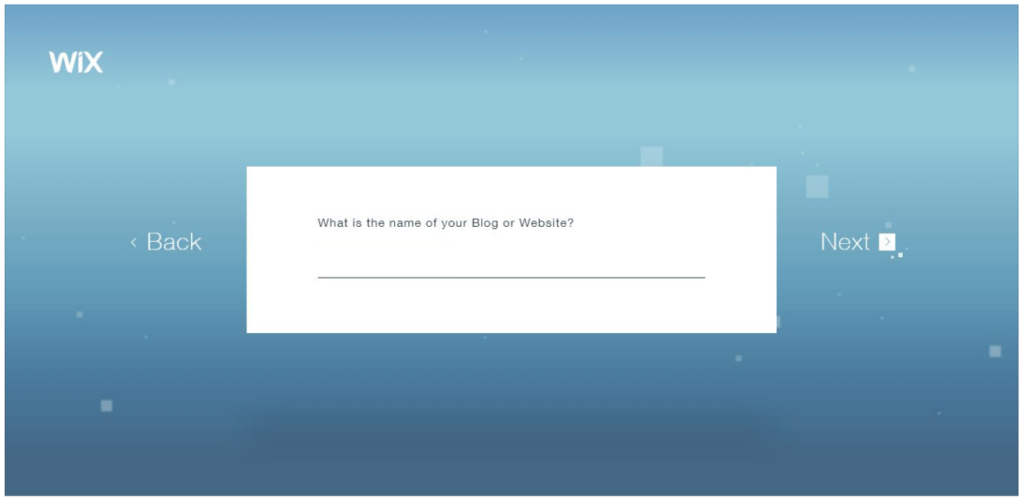 Wix ADI: What is the name of your Blog or Website?