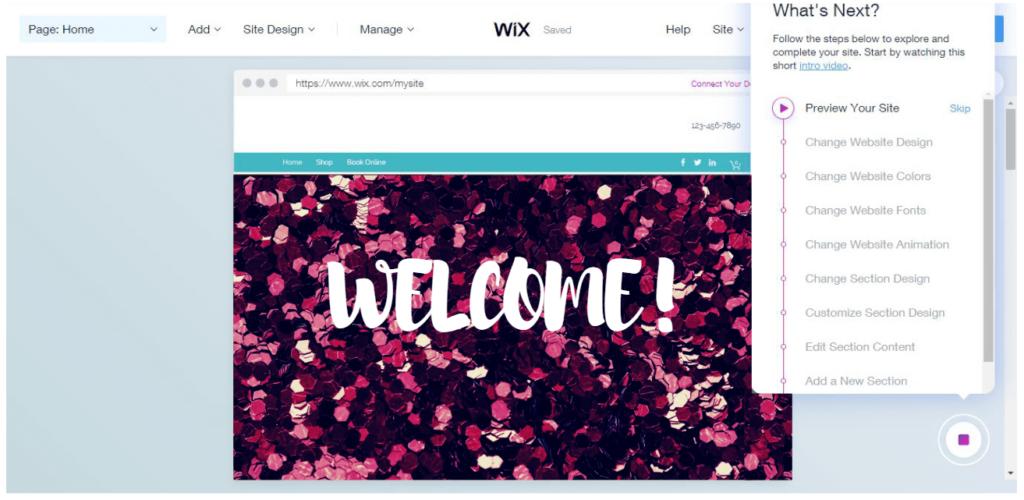 Wix ADI: Change Website Design, Change Website Colors, Change Website Fonts, Change Website Animation, Change Section Design.