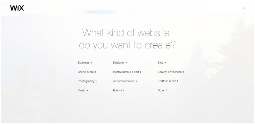 Wix.com: Free Website Builder. What kind of website do you want to create?