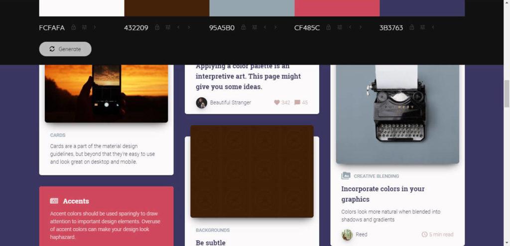 Colormind Website Colors Demo