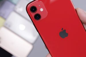 Apple iPhone 11 Red Close-up Photo