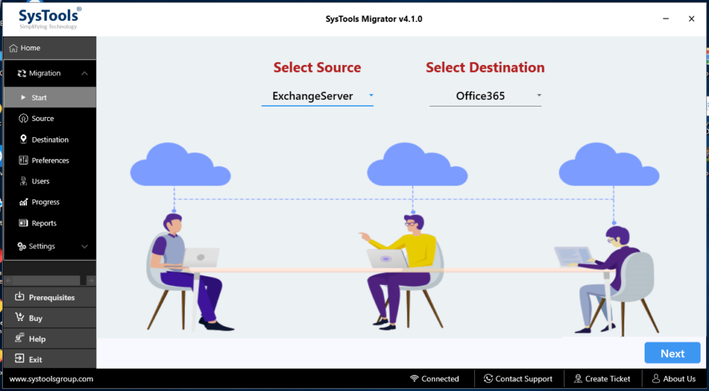 SysTools Migrator to Migrate Mailboxes From On Premise Exchange Server to Office 365.