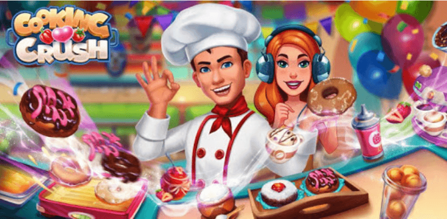 Cooking Crush Cooking Game Banner Image.