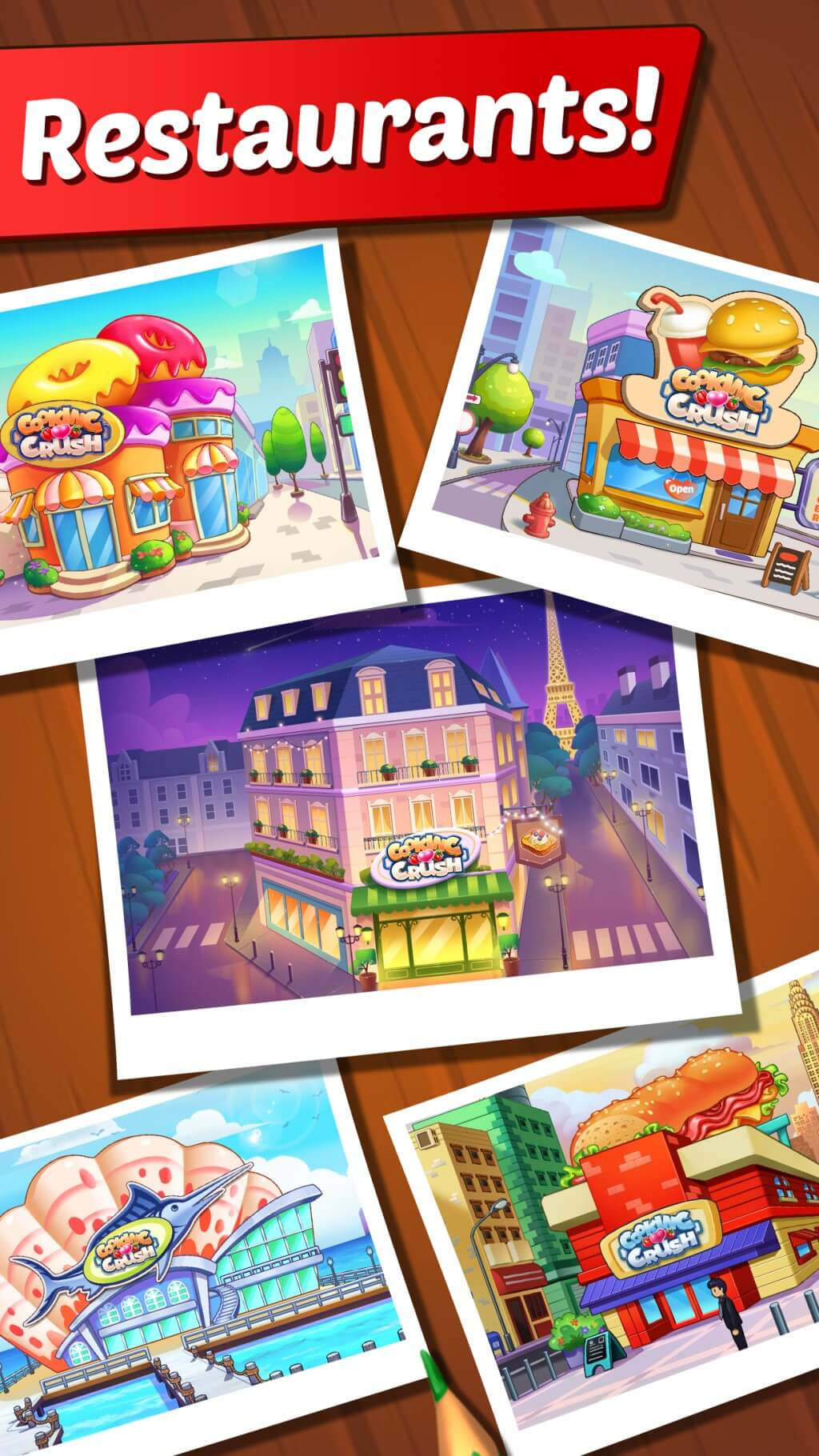 Cooking Crush Cooking Game Restaurants.