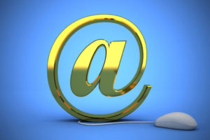 Email Photo @ Symbol Email Web Internet Communication Mail Mouse Online Yellow Shiny Illustration