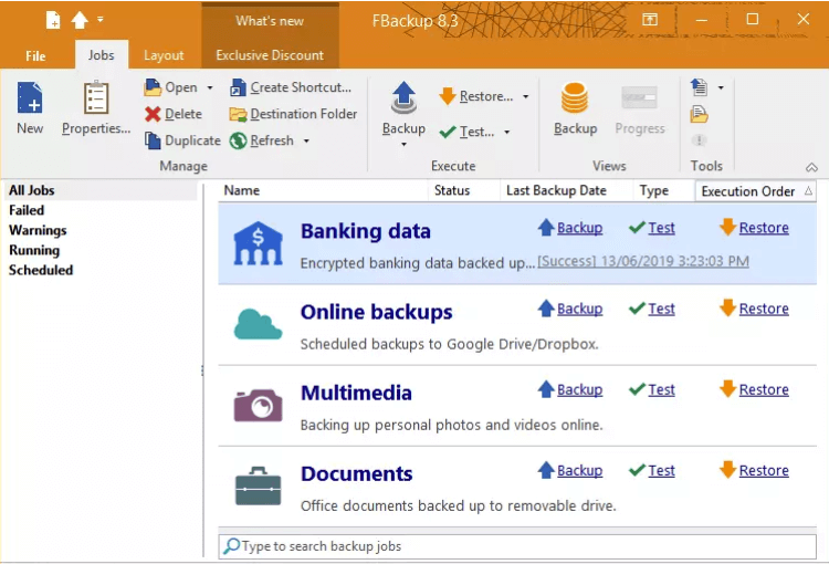 FBackup: Free Backup Software & Data Protection