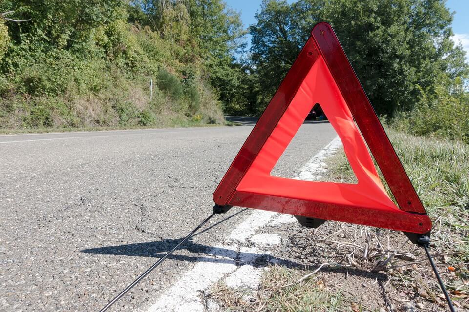 Triangular Road Sign.