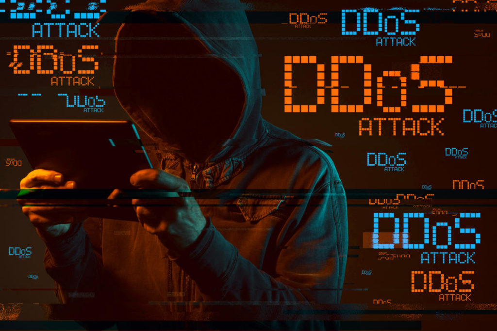 DDoS Attack, Distributed Denial of Service Attack.