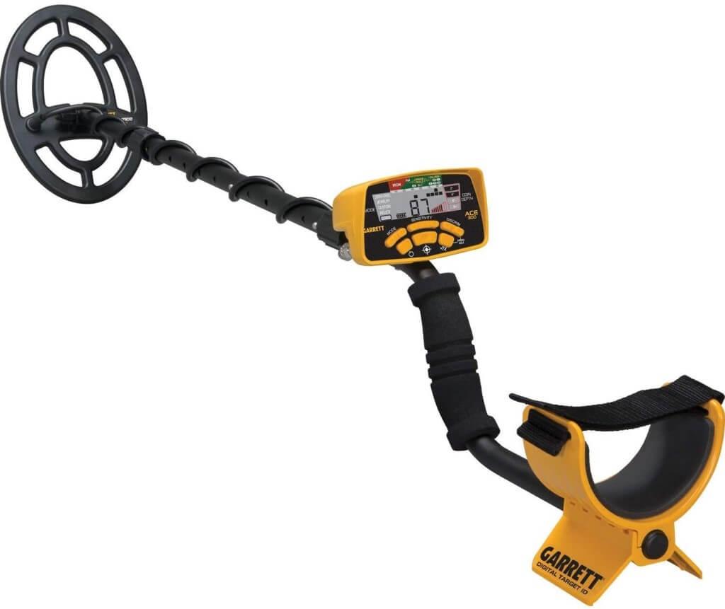 Garrett ACE 300 Metal Detector with Waterproof Coil and Headphone.