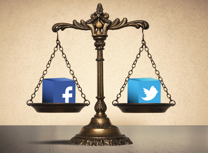 Law Firm Marketing on Social Media Platforms (Facebook and Twitter).