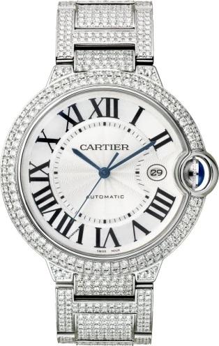 Ballon Bleu de Cartier Watch Rhodium Finished White Gold