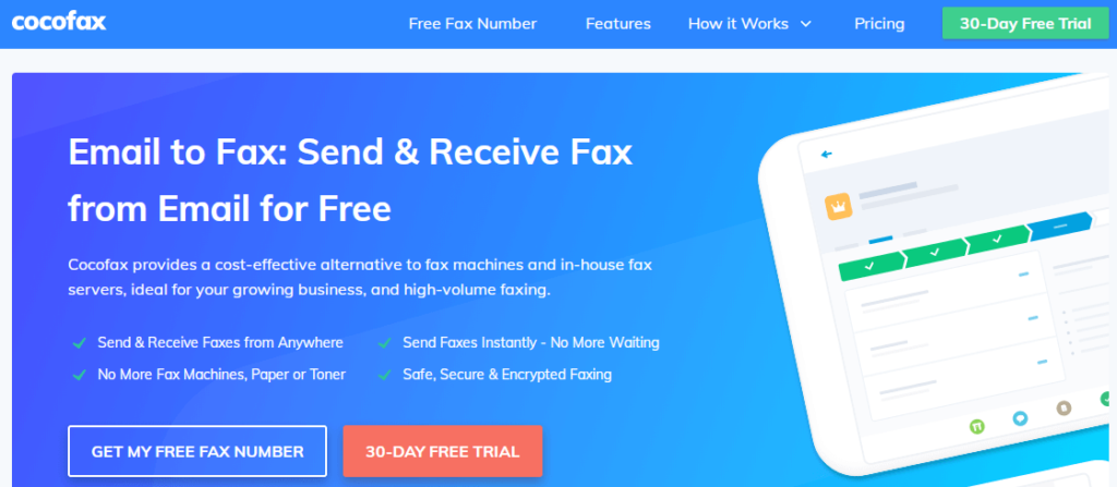 CocoFax Email to Fax: Send and Receive Fax from Email for Free.