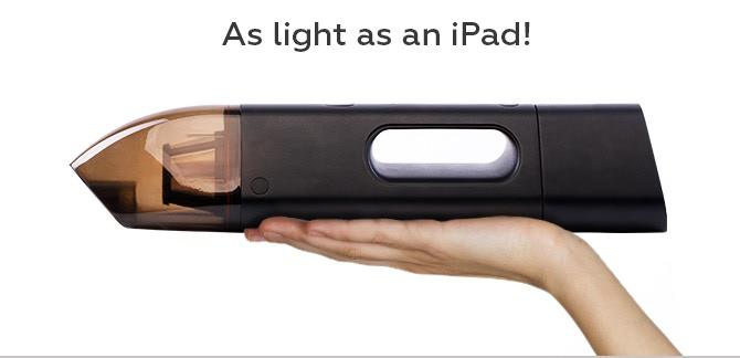 Jumpi car vacuum is as light as an iPad!