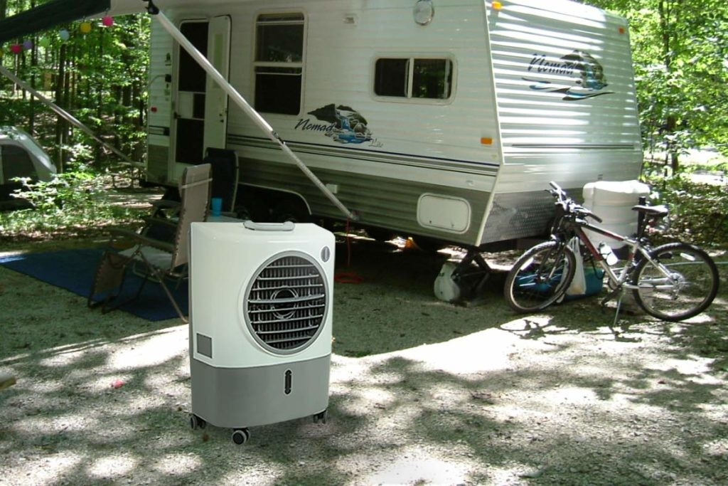 Recreational Vehicle (RV), Portable Evaporative Air Cooler (Swamp Cooler)