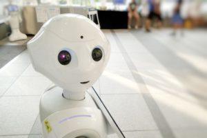 Smiling AI Robot, Artificial Intelligence, Machine Learning, Robotics, Technology, Tech.
