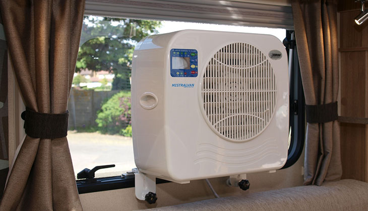 Small Portable Air Conditioner, Air Conditioning for Motorhomes and Caravans, Mobile Air Conditioning.