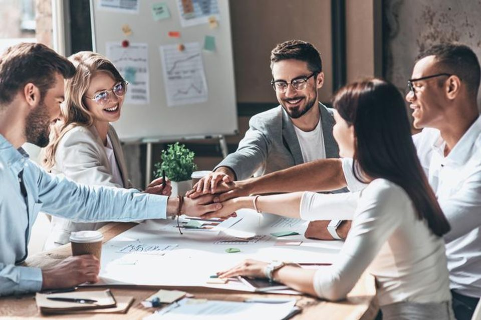 Collaboration, Leadership, Success.