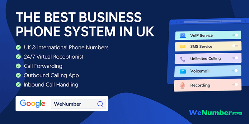 WeNumber.co.uk - The Best Business Phone System in UK. Offers UK and International Phone Numbers.
