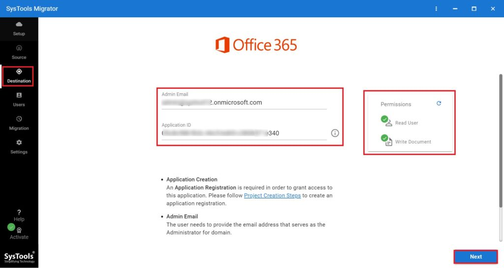 Google Drive to OneDrive Migration Tool: Validate Office 365