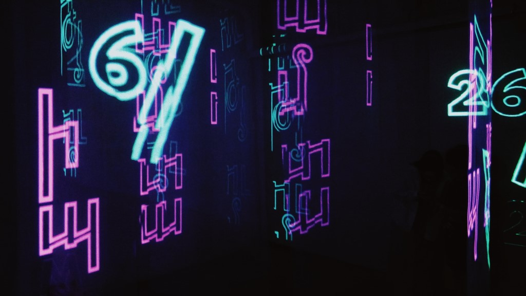 Cybersecurity, HD Neon Text