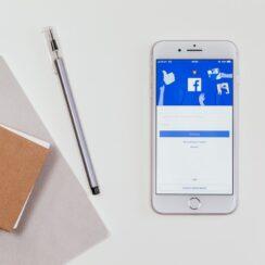 Facebook Login Screen iPhone 8 Plus