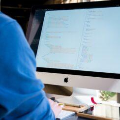 Software Developer, Computer, Programmer, Person on Mac, Technology.