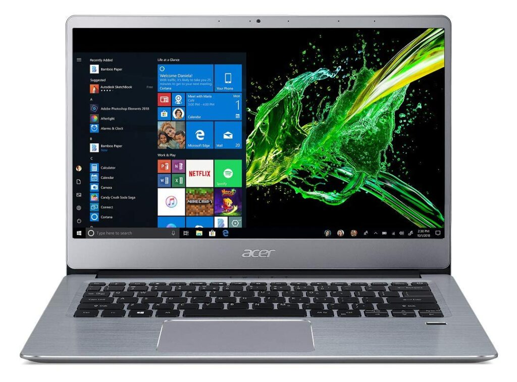 Acer Swift 3 Laptop.
