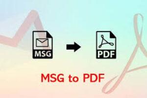 Convert MSG to PDF